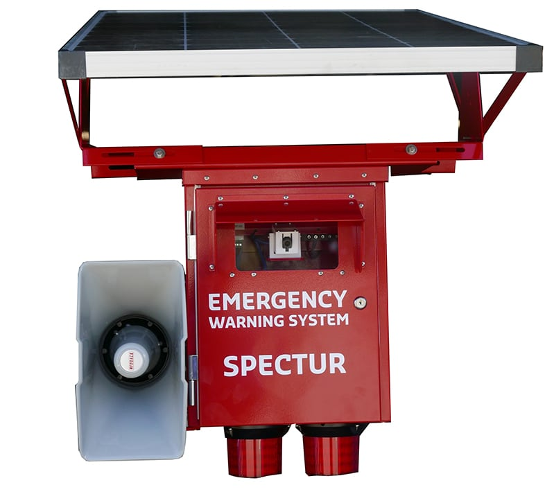 Spectur Emergency Waring system red