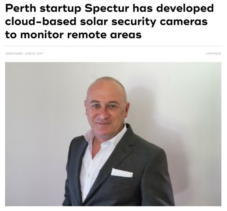 Perth startup Spectur has developed cloud-based solar security cameras to monitor remote areas