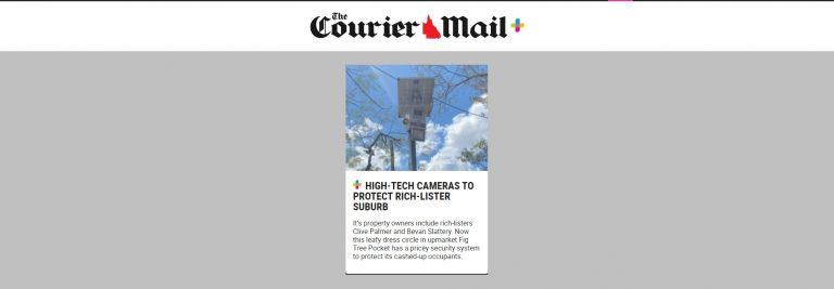 High-tech surveillance cameras revealed in rich-lister suburb